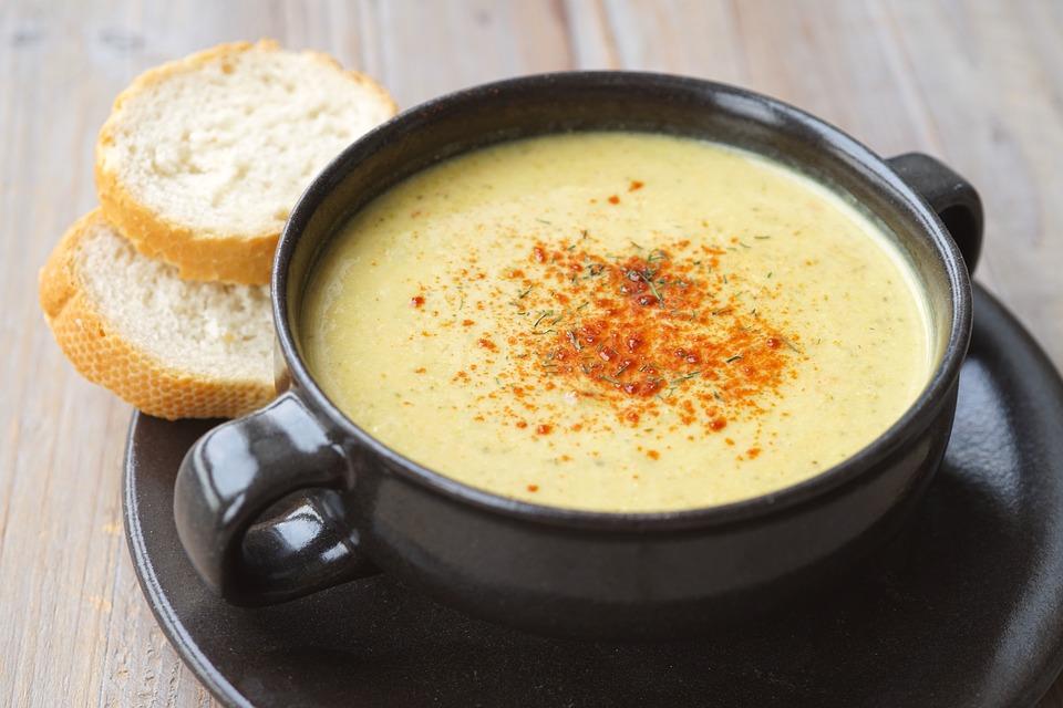 Soup, Come, Vegan, Paprika, Creamy, Bread, Yellow