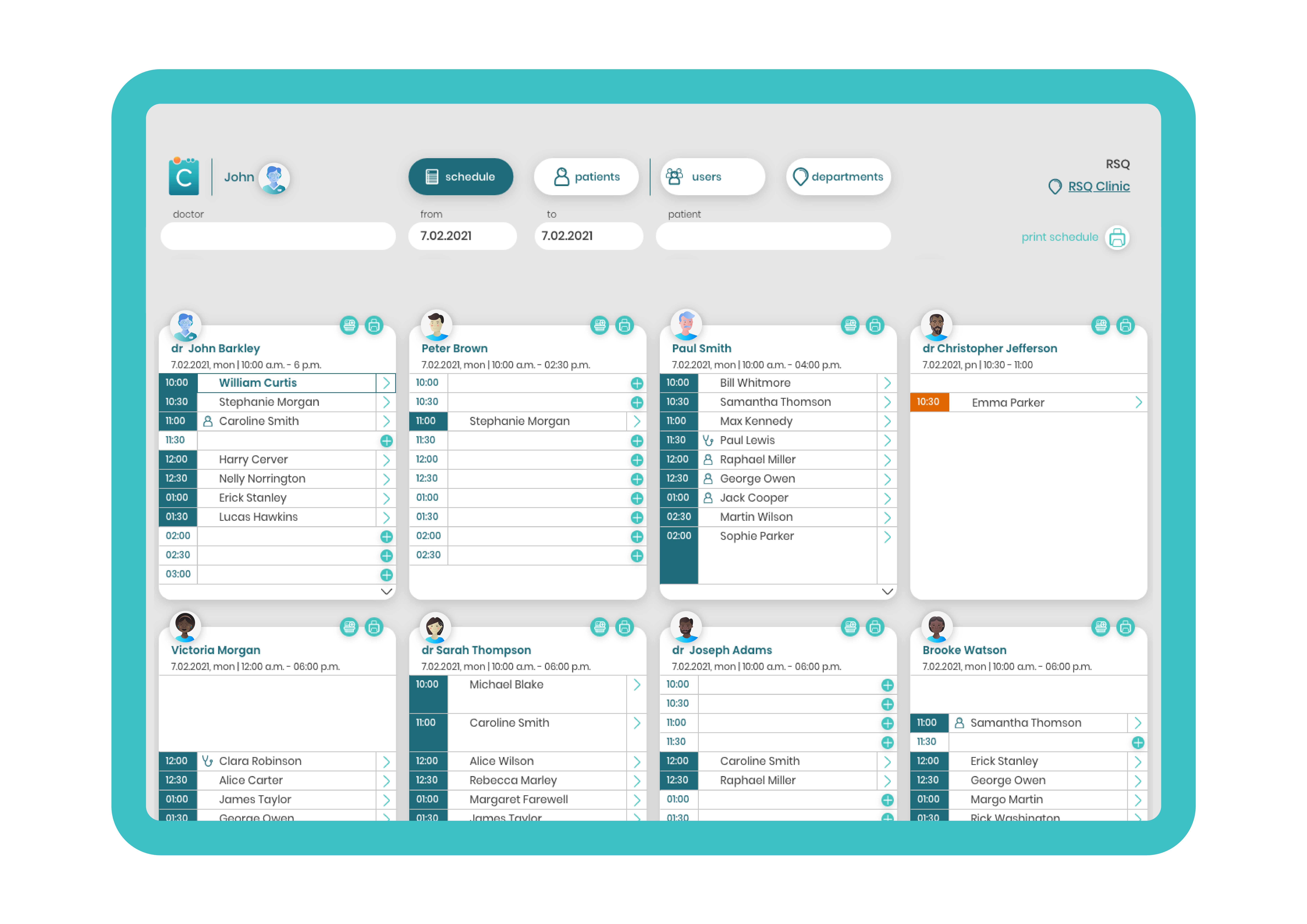 RSQ Clinic Desktop