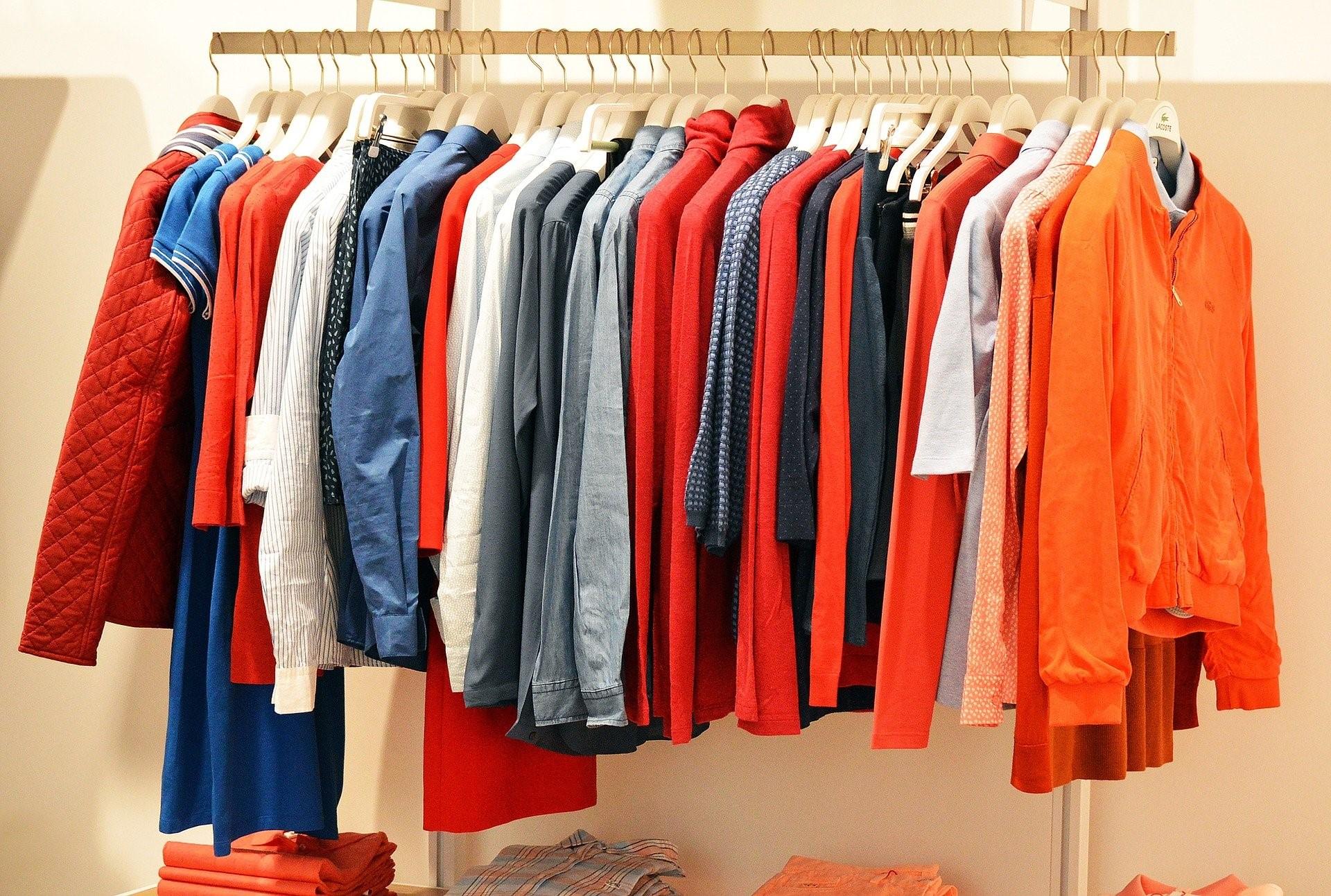 Multiple shirts hanging