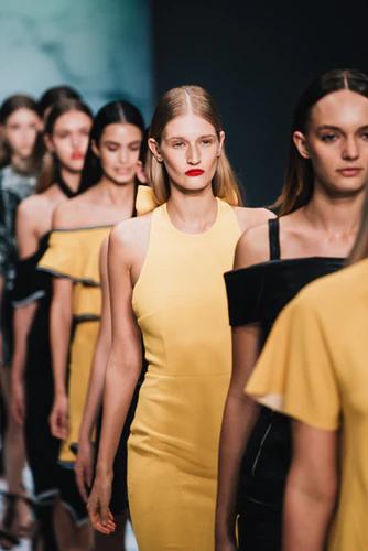 models walking on a runway