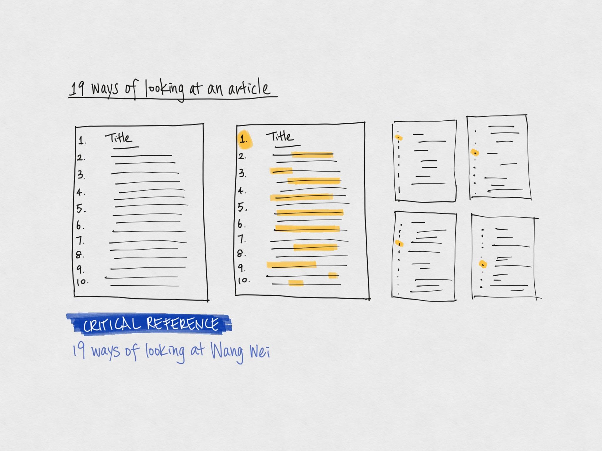 19 ways of looking at an article @Tara Lin