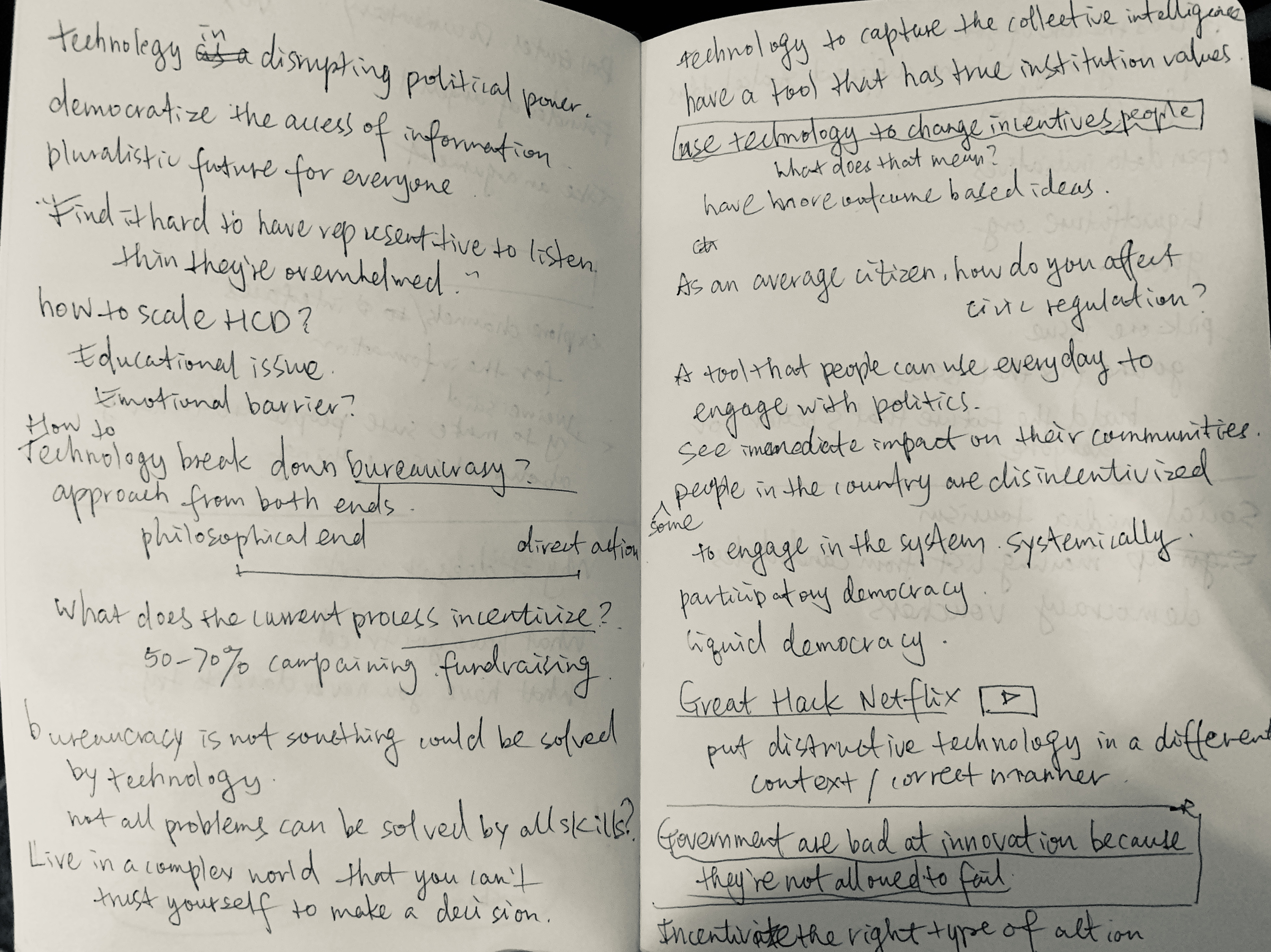 Notes on The Future Role of Technology in Disrupting Political Power @Tara Lin