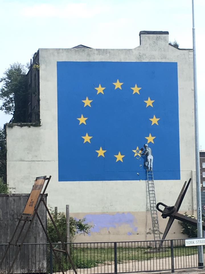 Brexit image on a wall