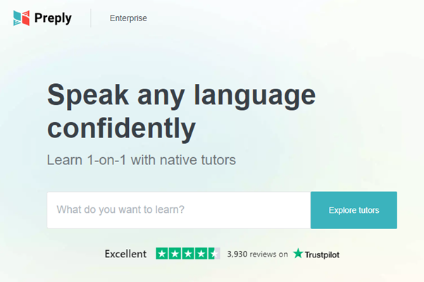 preply to learn English