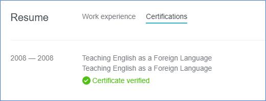 TEFL certifications