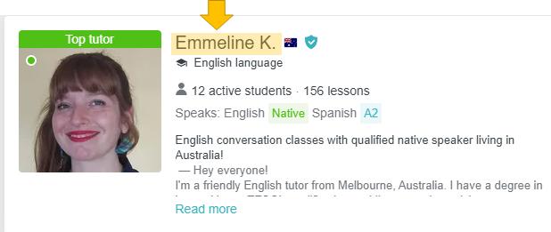 Profile of an English teacher