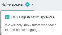Choosing only native speakers