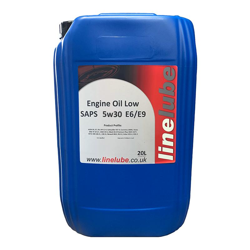 Linelube Low SAPS 5W30 E6/E9 Engine Oil