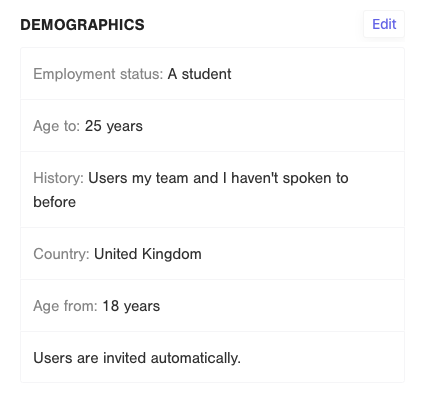 B2C UX research demographics