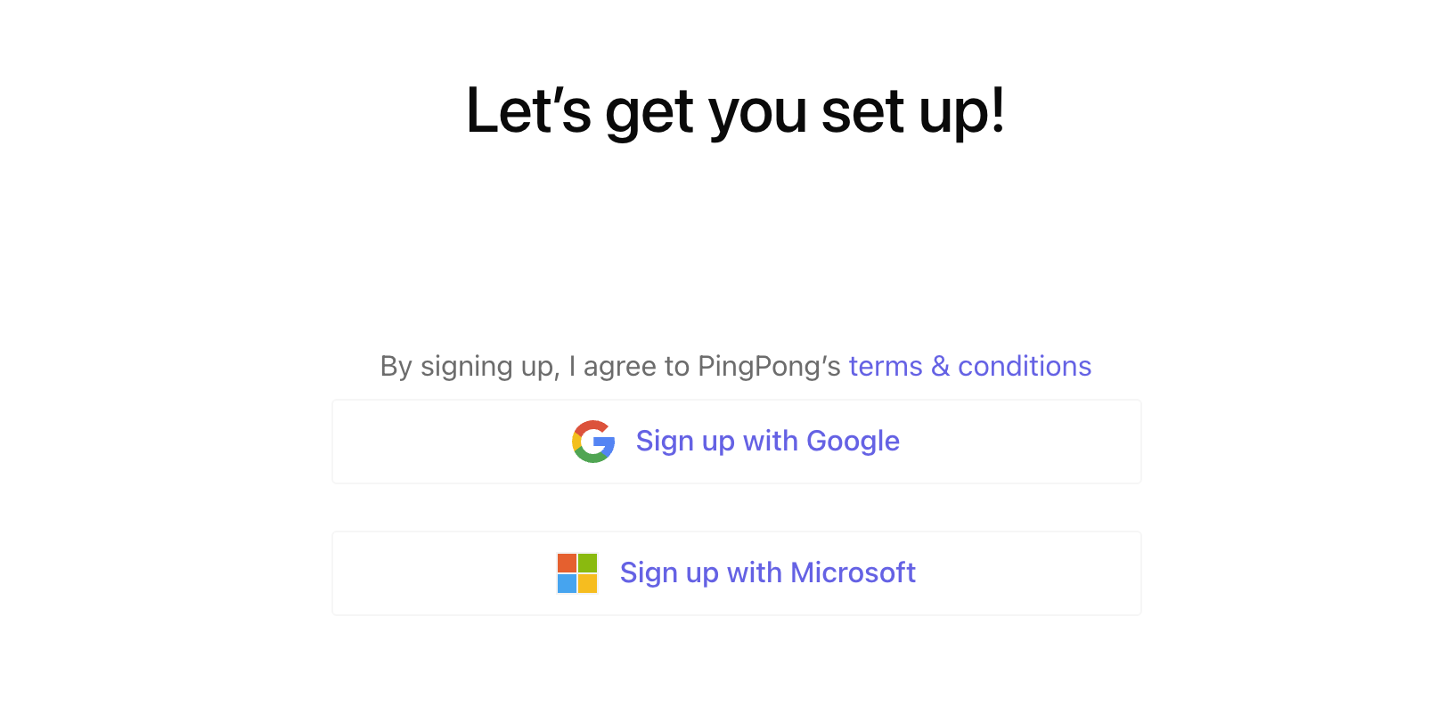 Sign up with Microsoft accounts