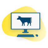 Cattle farm management web portal icon
