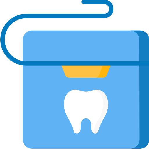 Flossing icon showing how you can earn Blackburn Orthodontics braces and Invisalign points.