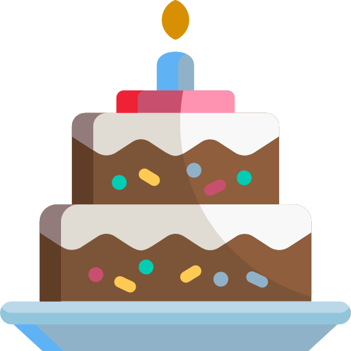 Birthday cake icon showing how you can earn Blackburn Orthodontics braces and Invisalign points.