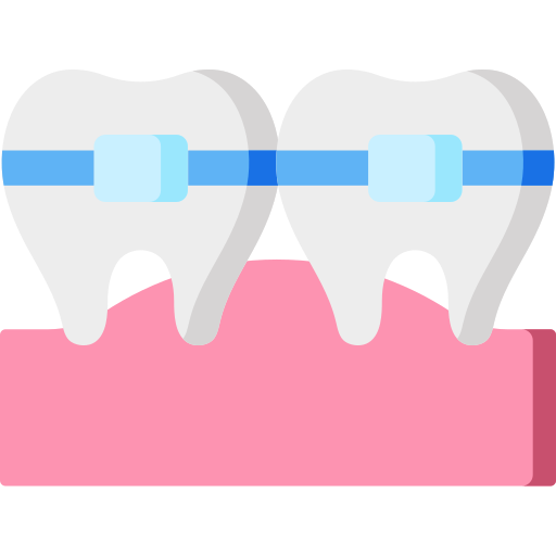 Clean teeth icon showing how you can earn Blackburn Orthodontics braces and Invisalign points.