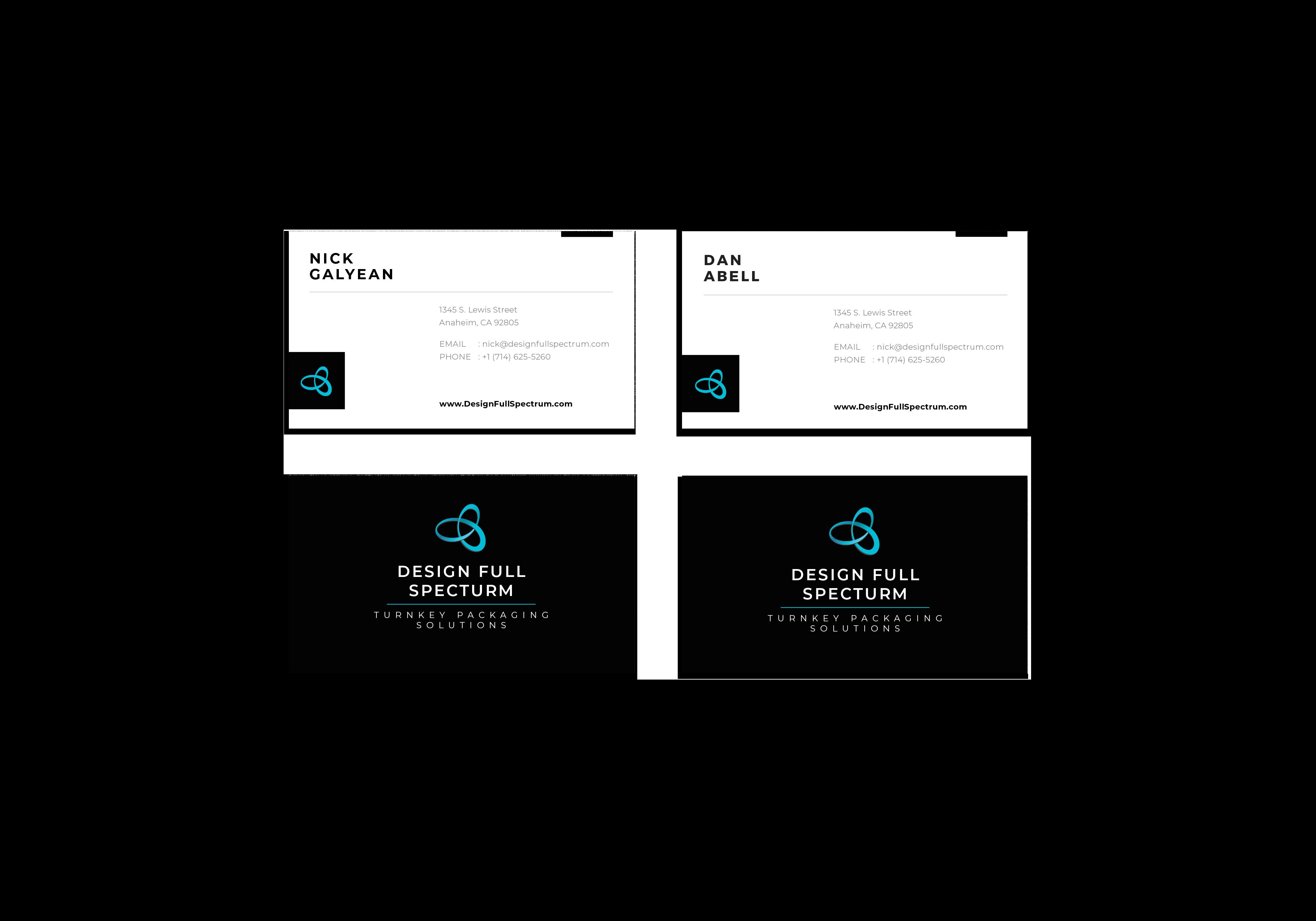 design full spectrum business cards