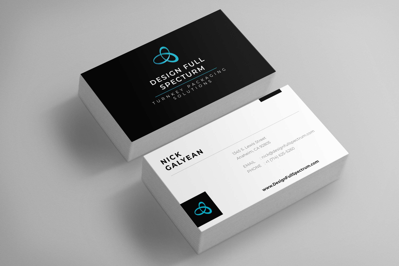 design full spectrum business card 1