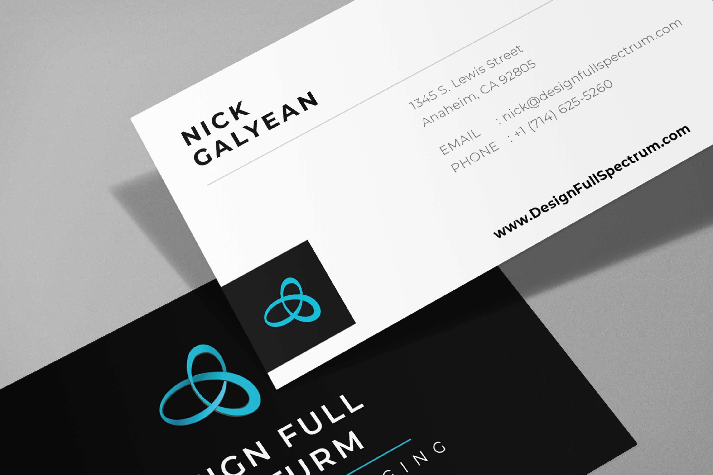 design full spectrum business card 2