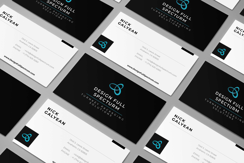design full spectrum business card 3