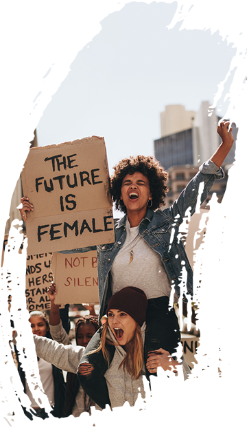 The future is female women protesting