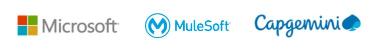Onova's design sprint and open innovation partner portfolio: Microsoft, MuleSoft, Capgemini.