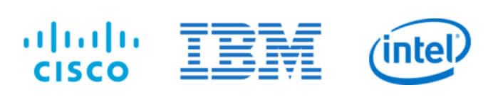 Onova's design sprint and open innovation partner portfolio: CISCO, IBM, Intel.