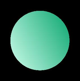A small green gradient circle.