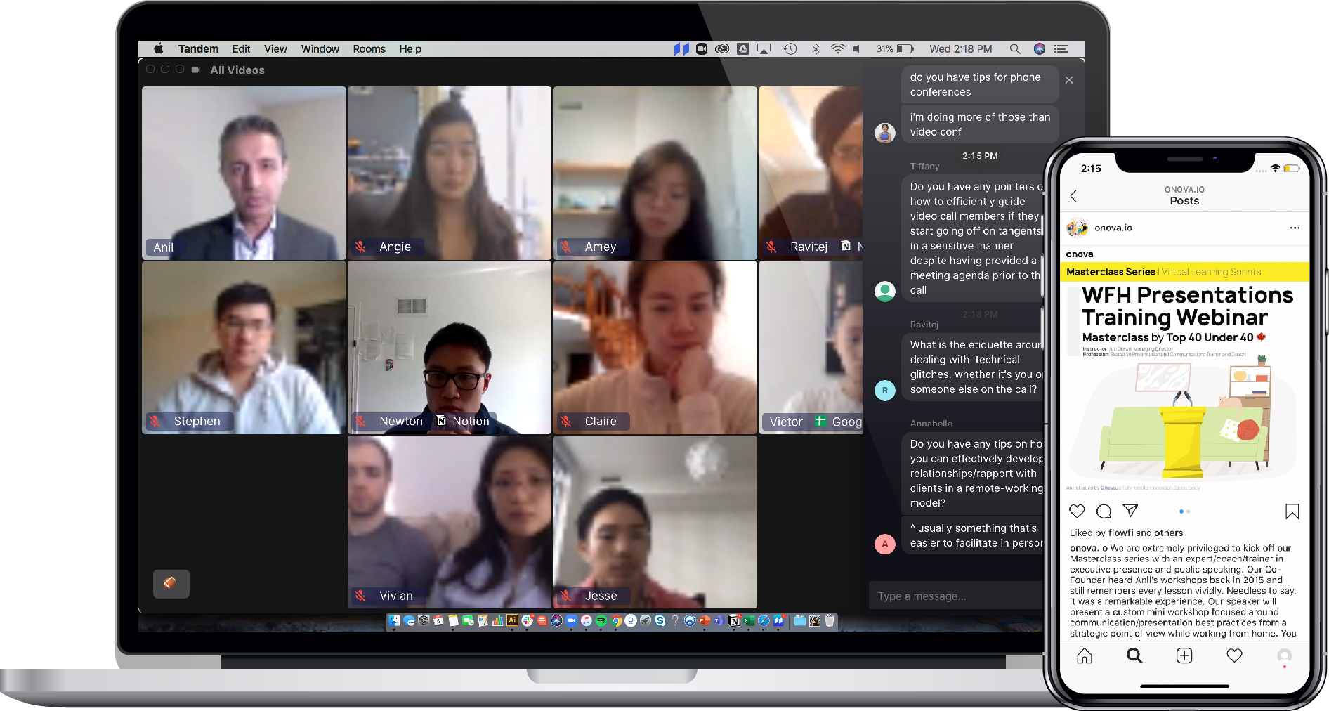 Onova's virtual coworking innovation programmes
