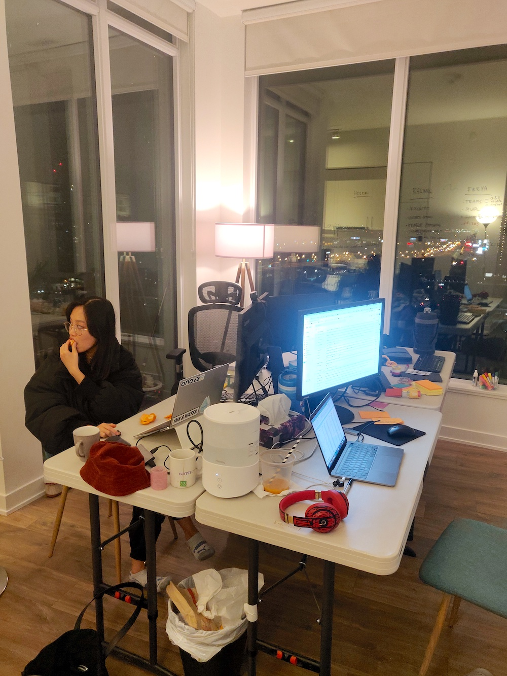 The Onova team worked non-stop throughout the entire event for Burger Hack