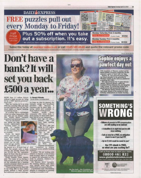 Marketing Of Financial Services  in the Daily Express