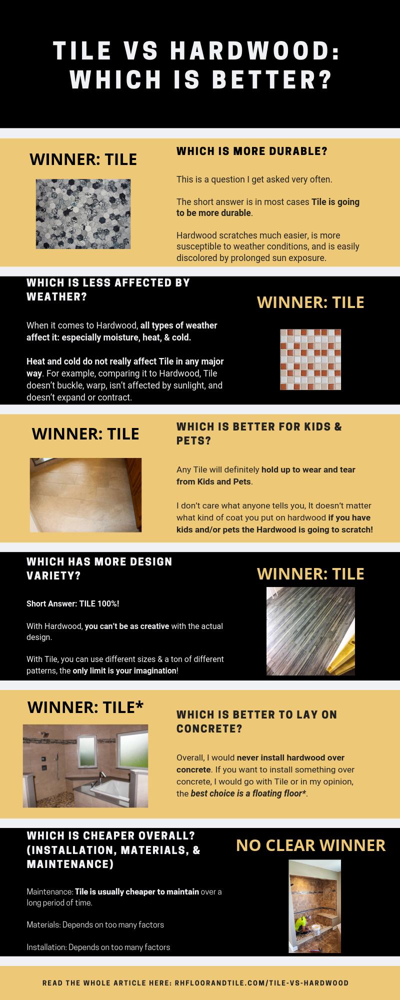 tile vs hardwood flooring pros cons