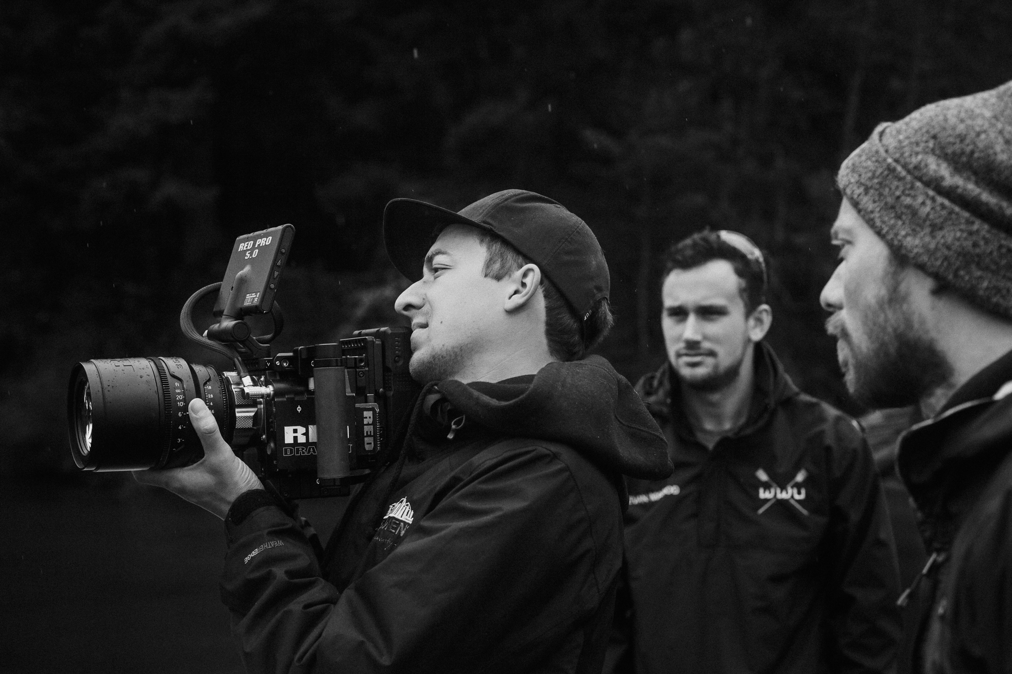Director and DP working closely on set