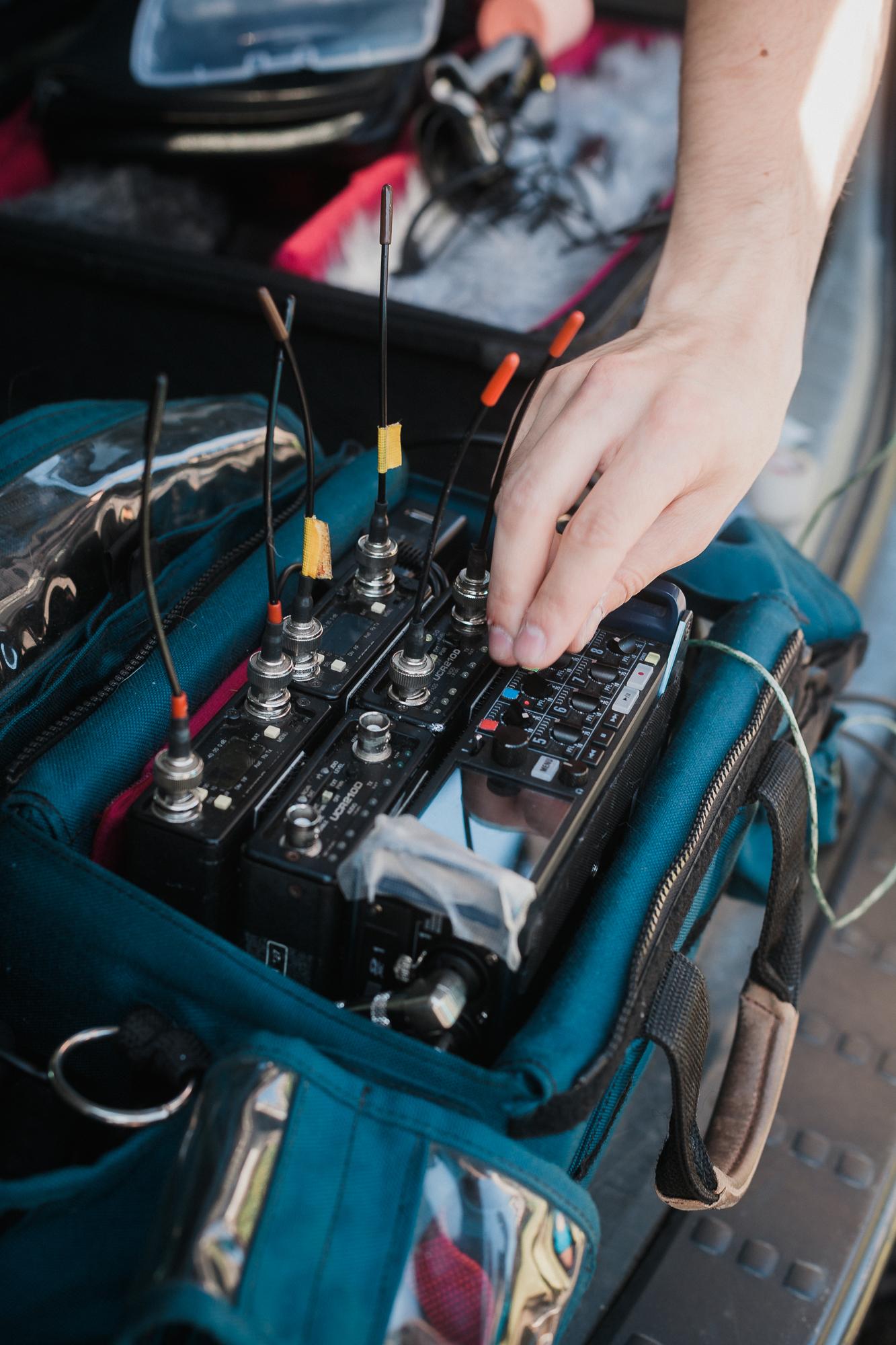 Field audio on film sets
