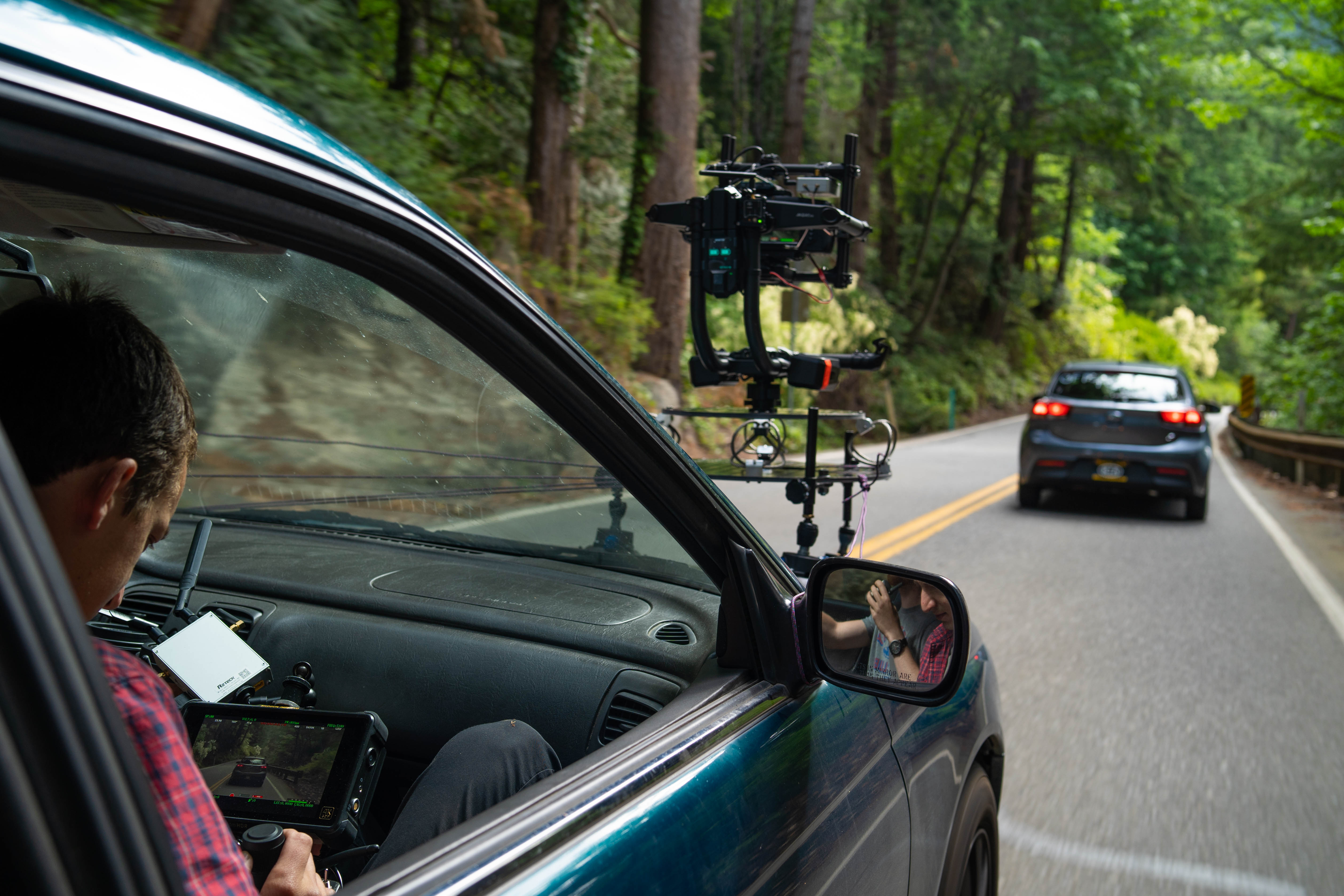 Shooting a car commercial behind the scenes