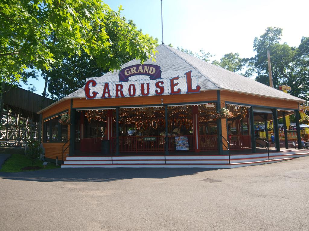 Carousel roundhouse with sign