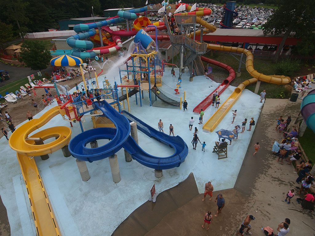 Water park with water slides