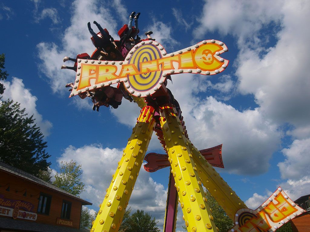 Pendulum ride upside down