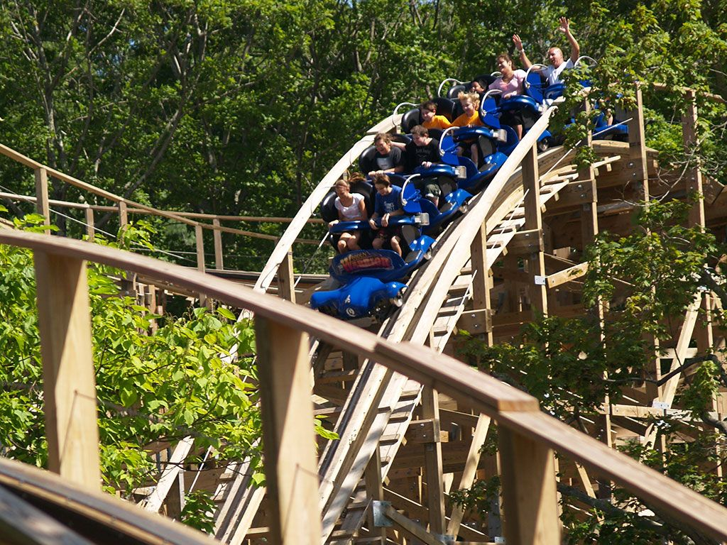 Wooden Warrior roller coaster.