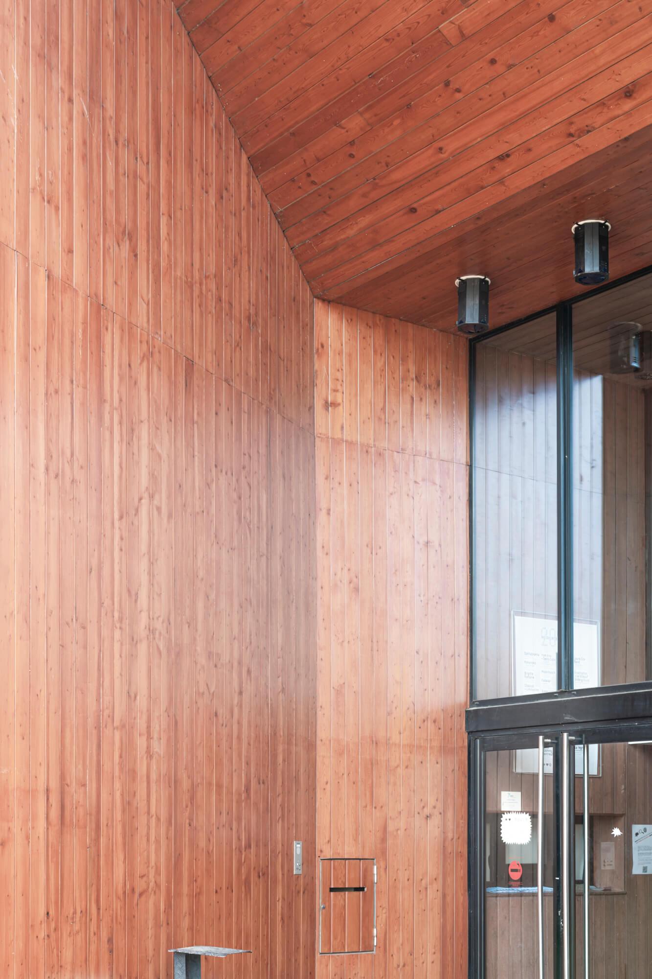 Photographe paris Come bocabeille massy centre culturel architecture bois bardage