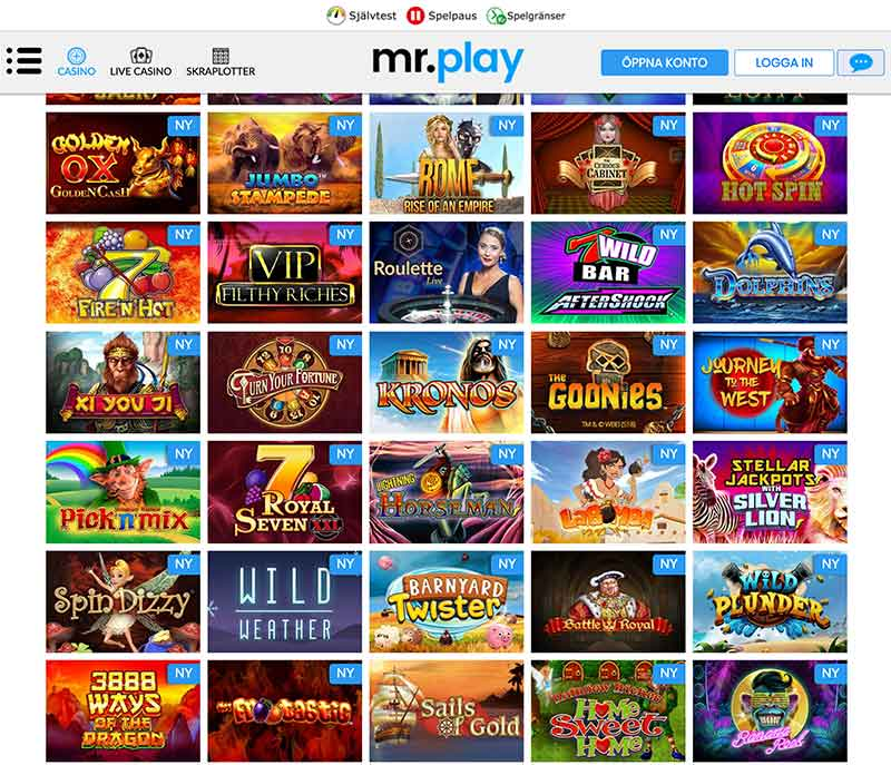 mr play casino spelutbud
