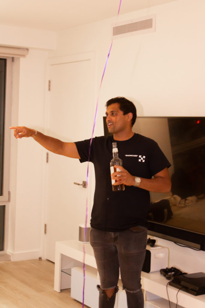 Founder Amay Sheth tells the room to drink up!