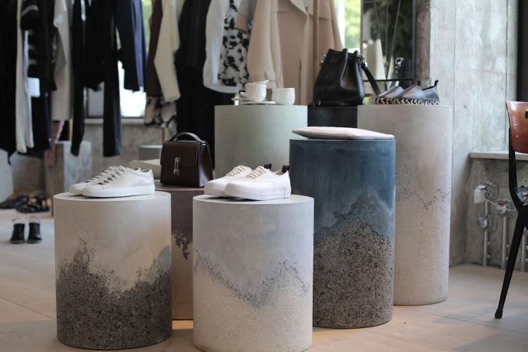 Samuel Amoia Series of plaster and agate drums for The Store Soho House in Berlin