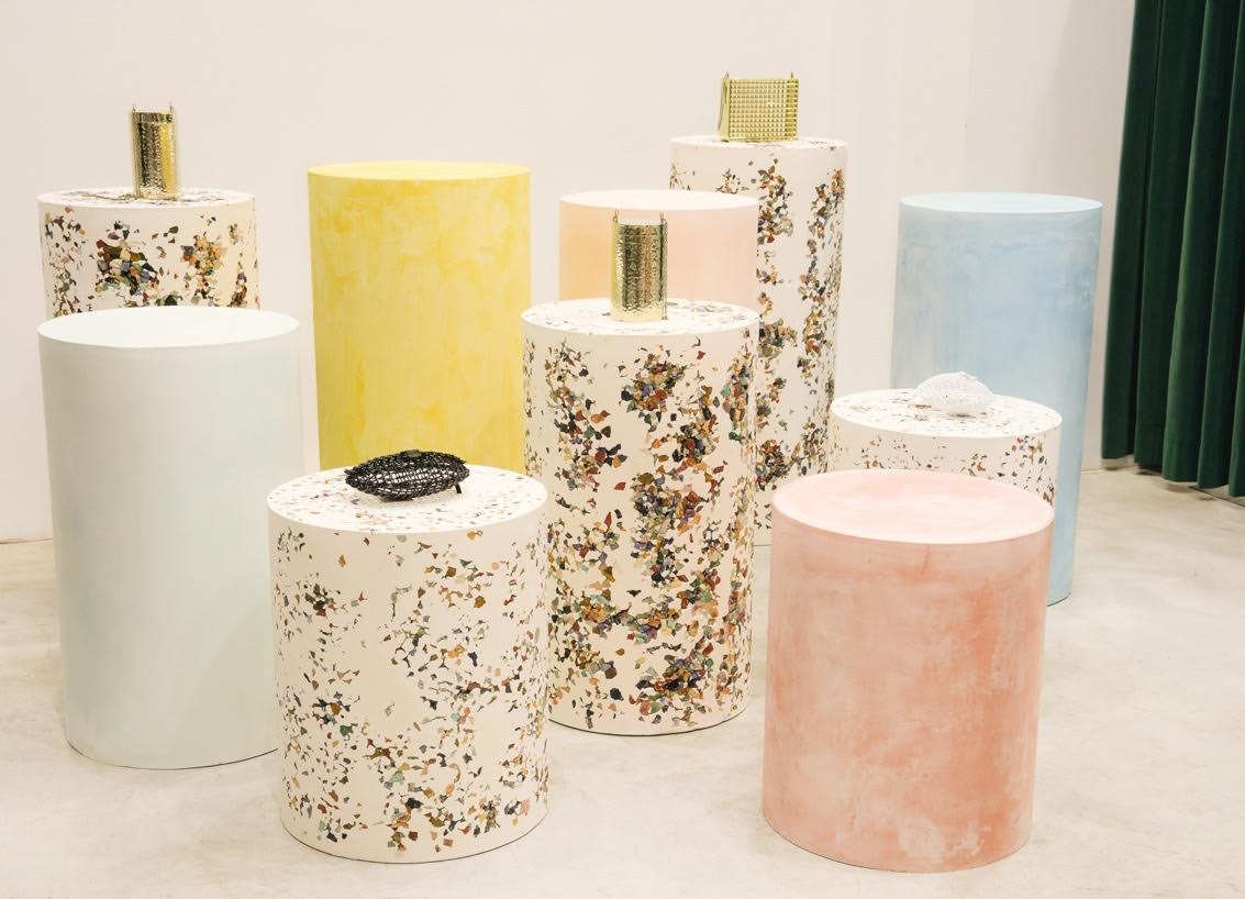 Samuel Amoia Series of plaster drums for Dover Street Market