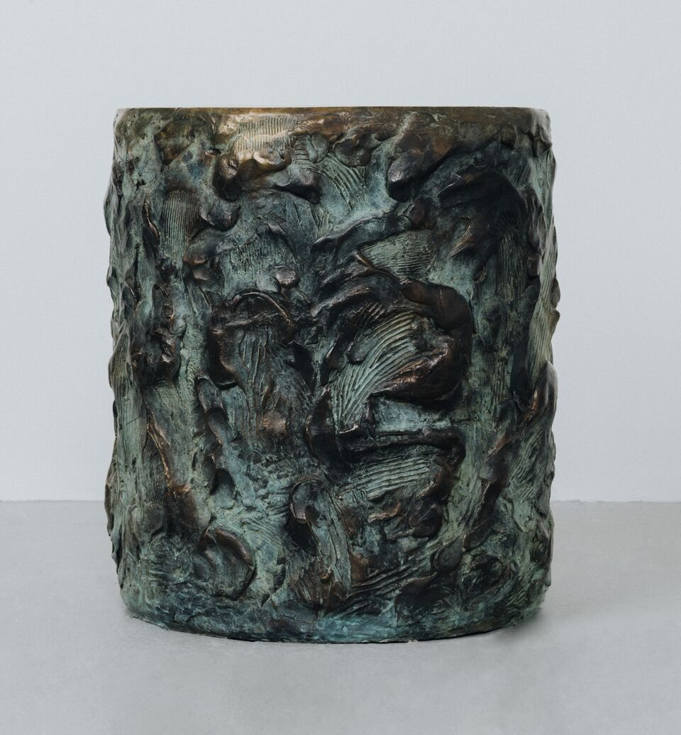 Samuel Amoia Drum of Sculpted Cast Bronze
