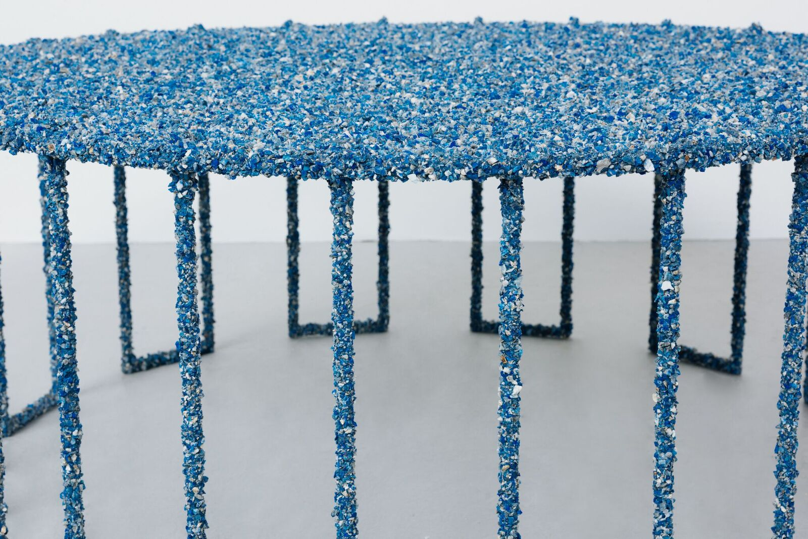 Samuel Amoia Coffee Table of Lapis Lazuli