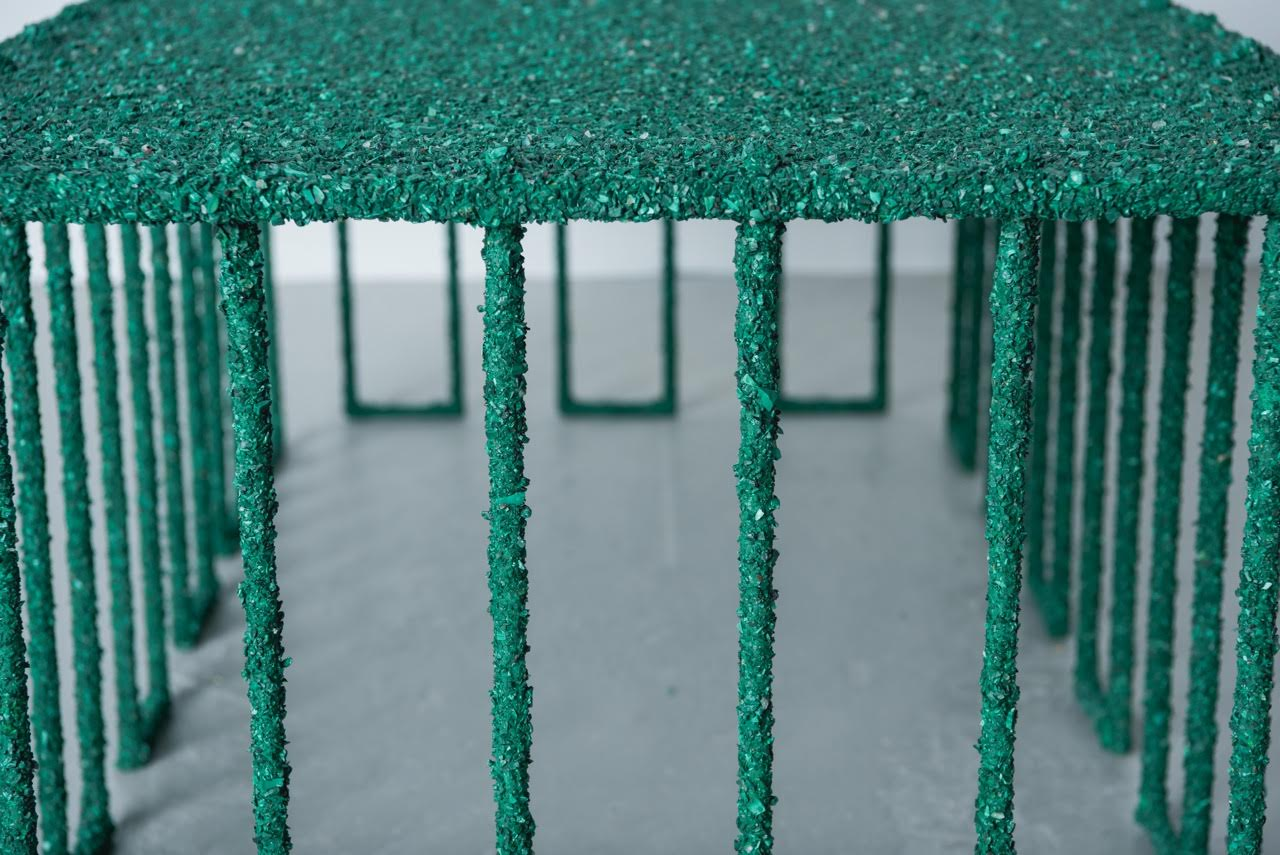 Samuel Amoia Coffee Table of Malachite