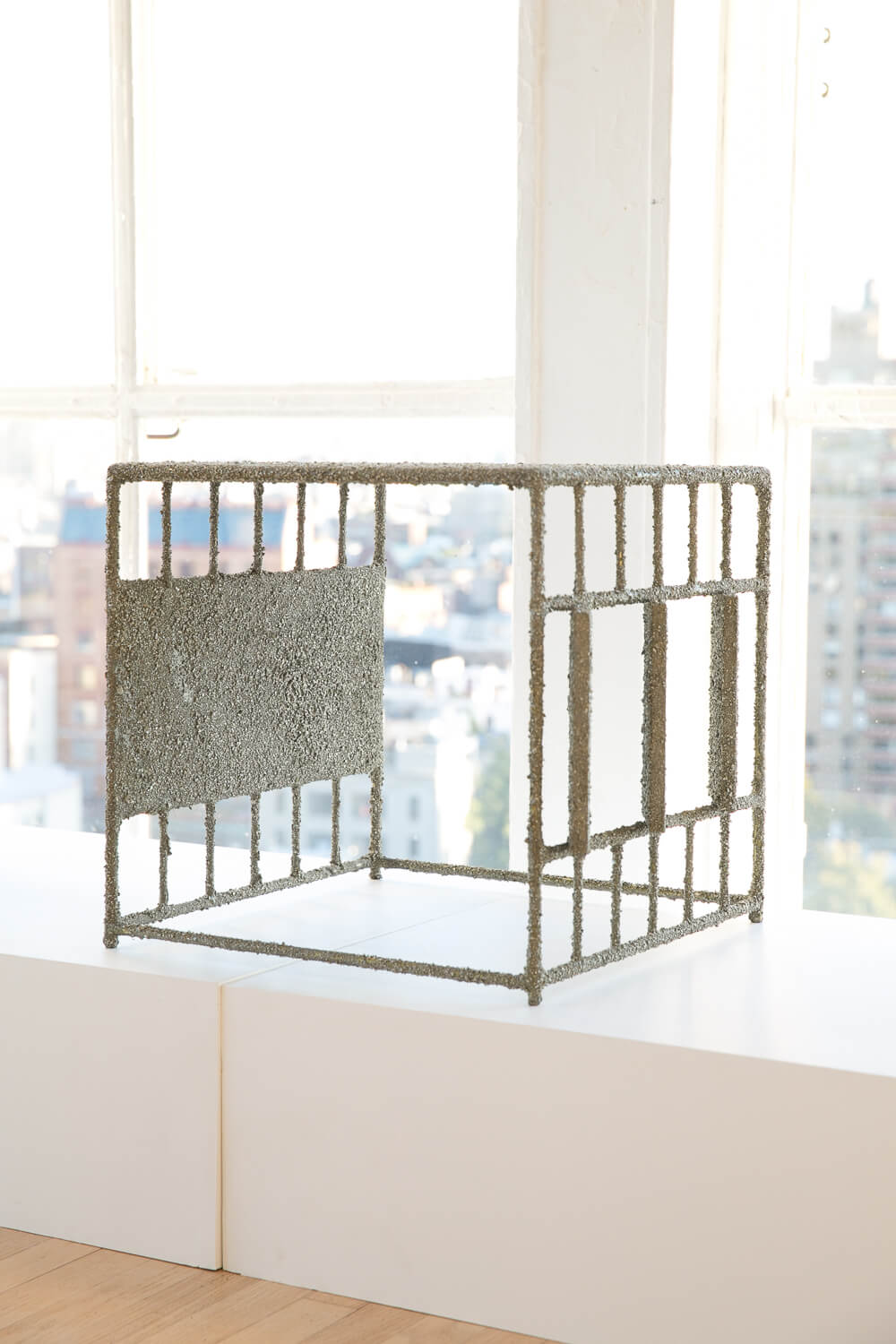 Samuel Amoia Side Table of Crushed Pyrite