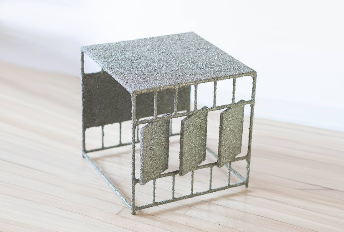 Side Table of Crushed Pyrite