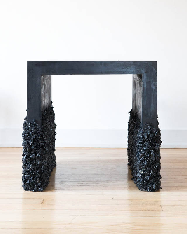 Samuel Amoia Side Table of Black Tourmaline