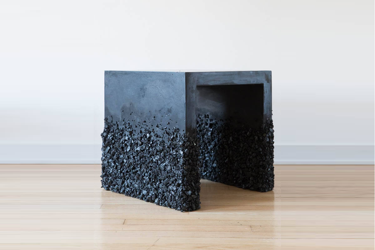 Side Table of Black Tourmaline