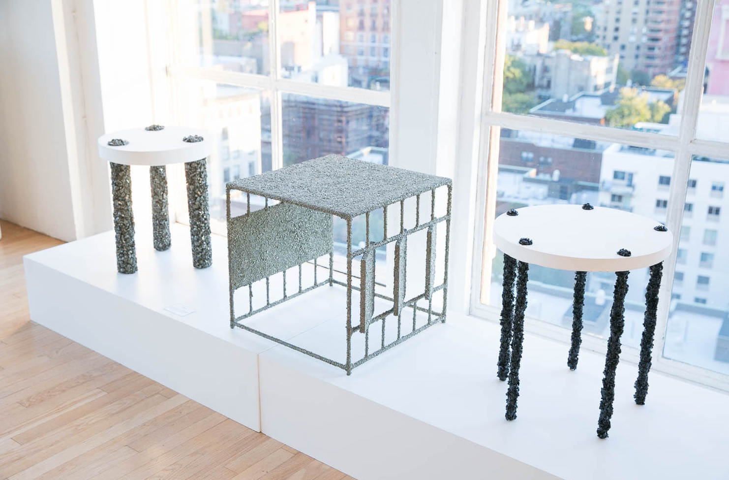 Samuel Amoia 3 Leg Pyrite Table